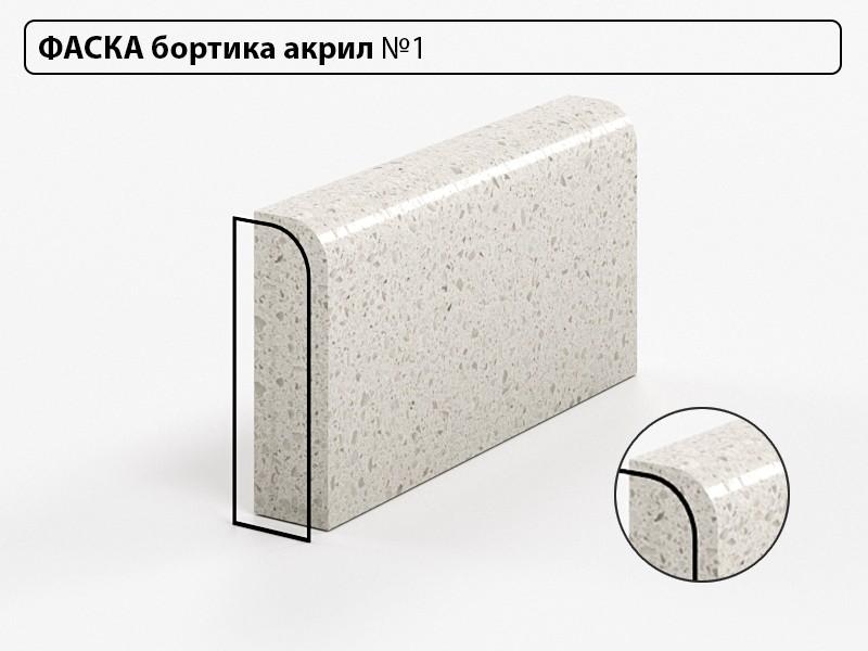 Фаска бортика акрил №1