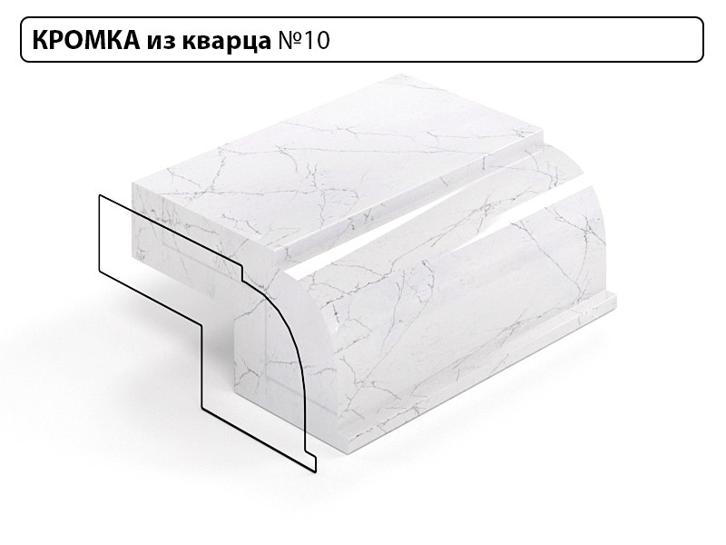 Заказать Кромка из кварца №10 в Москве